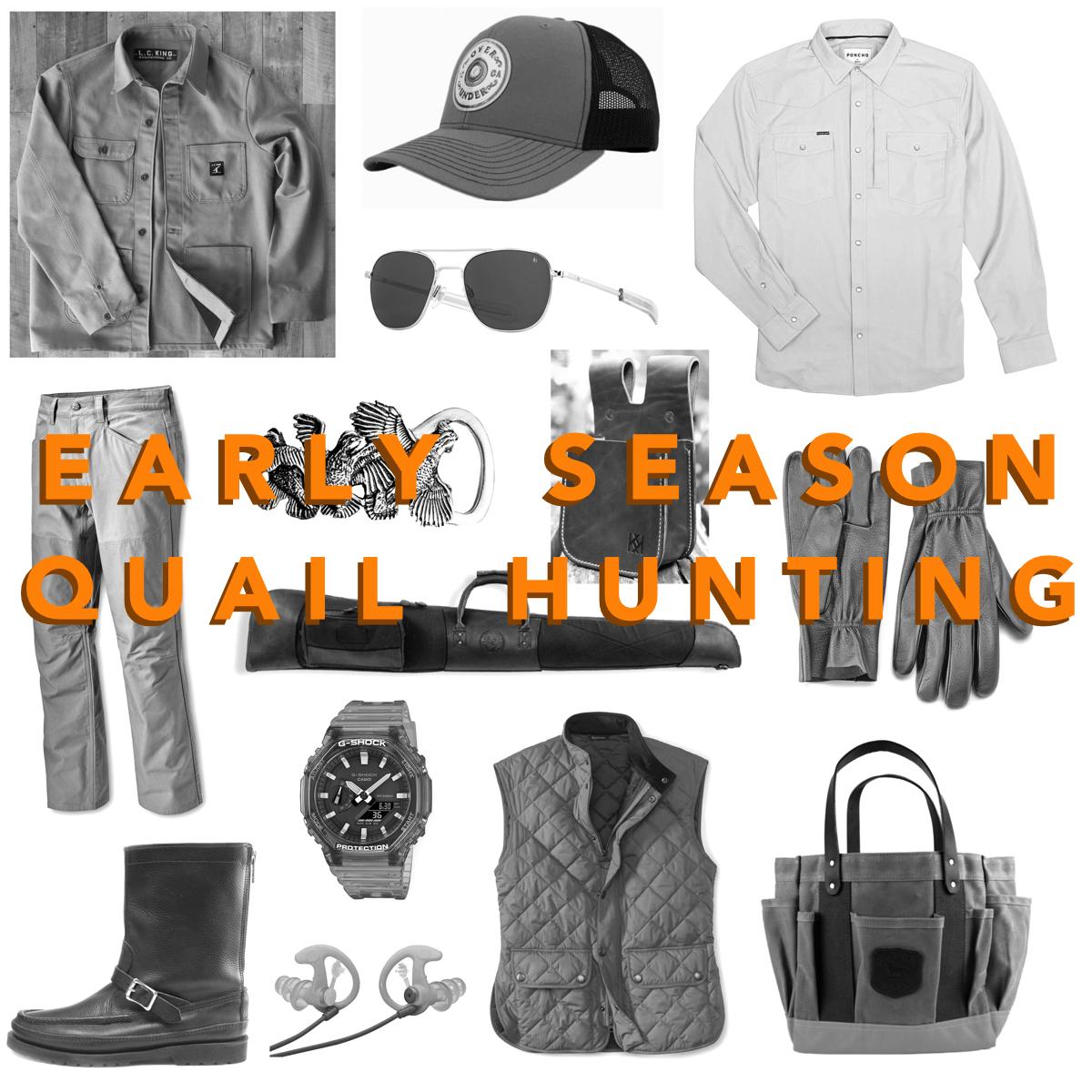 Early Season Quail Hunting