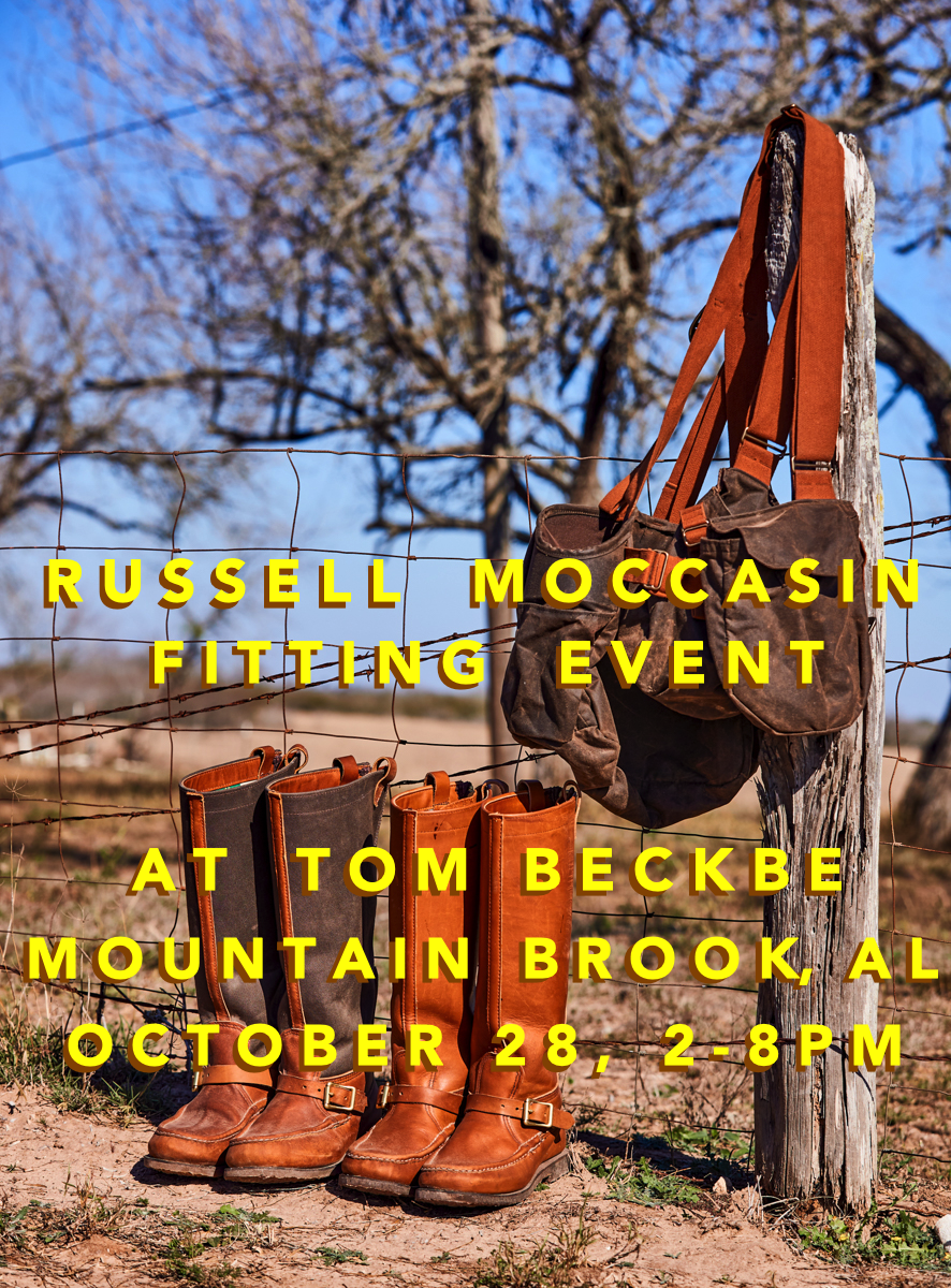 Russell Moccasin Fitting Event at Tom Beckbe